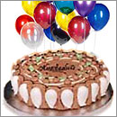 Special Occasion Cake w/balloons